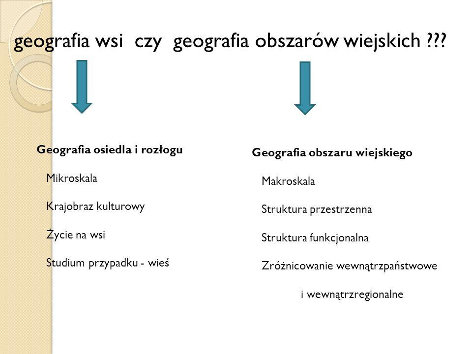 geografia wsi czy geografia obszarów wiejskich