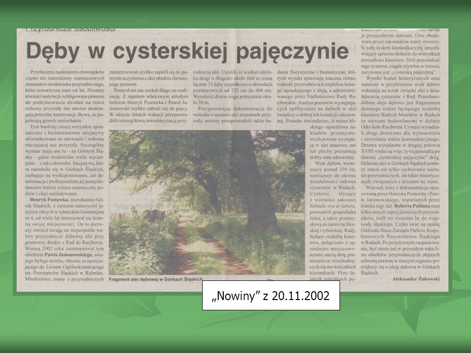 """""""Nowiny z 20.11.2002"""