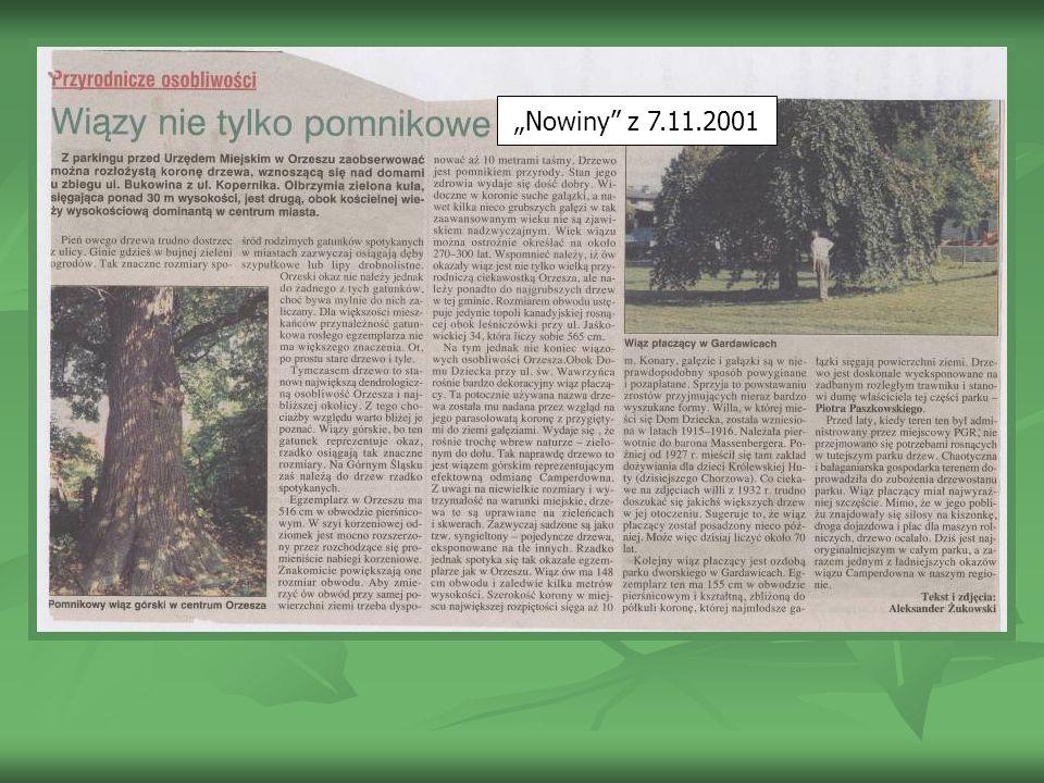 """""""Nowiny z 7.11.2001"""