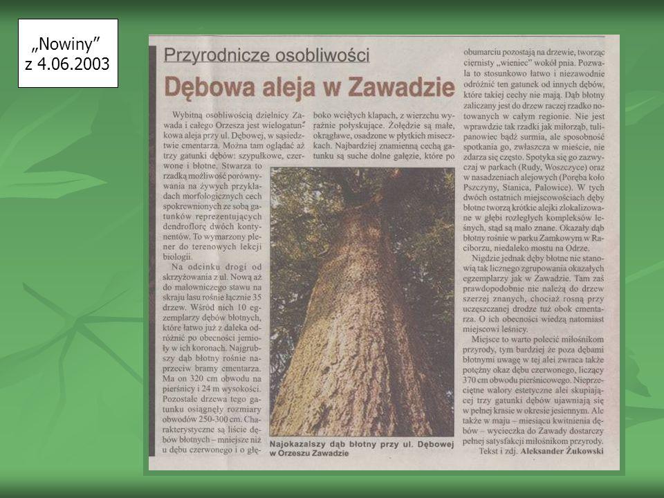 """""""Nowiny z 4.06.2003"""