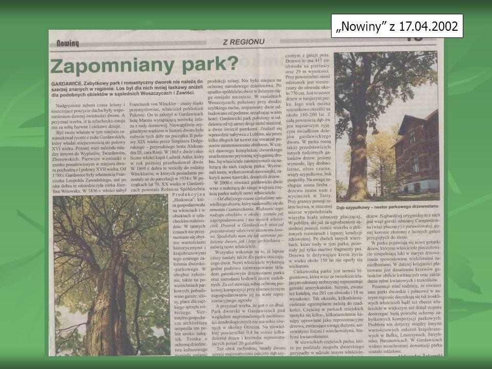 """""""Nowiny z 17.04.2002"""