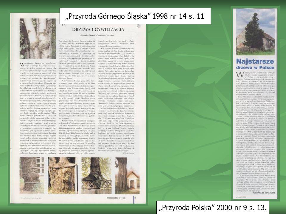 """""""Przyroda Górnego Śląska 1998 nr 14 s. 11"""