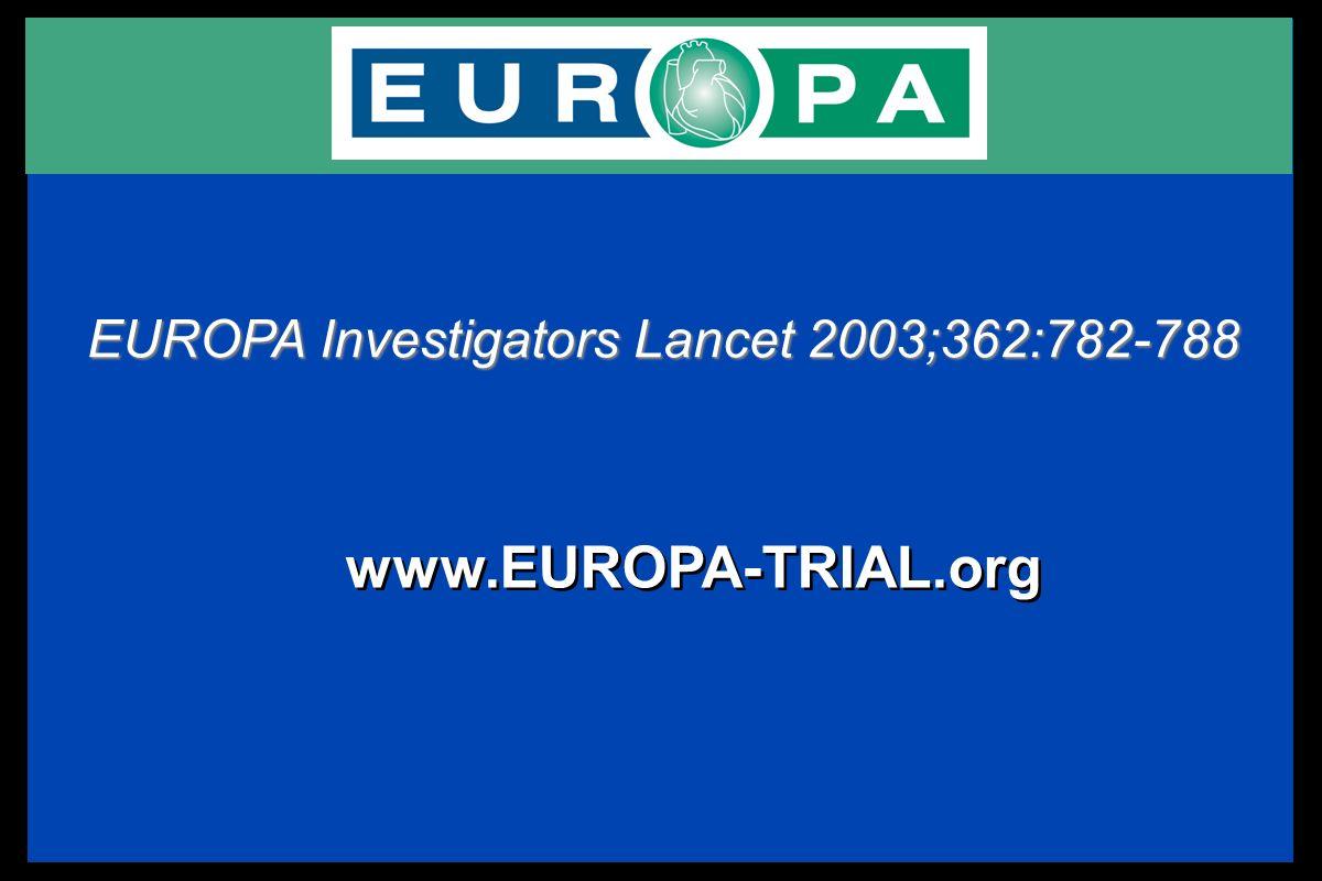 EUROPA Investigators Lancet 2003;362:782-788