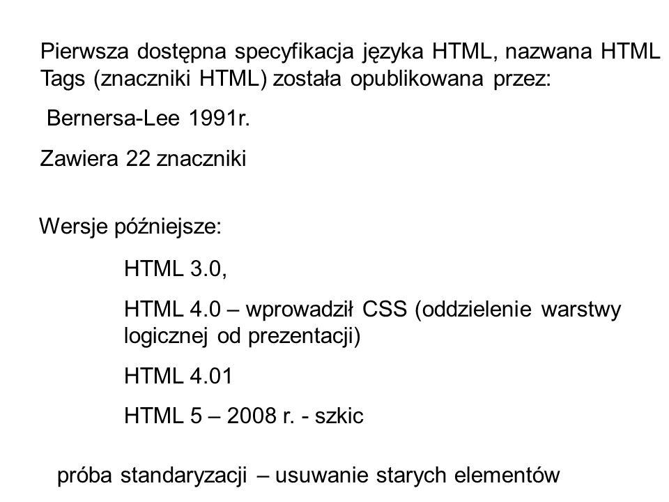 Pierwsza dostępna specyfikacja języka HTML, nazwana HTML Tags (znaczniki HTML) została opublikowana przez: