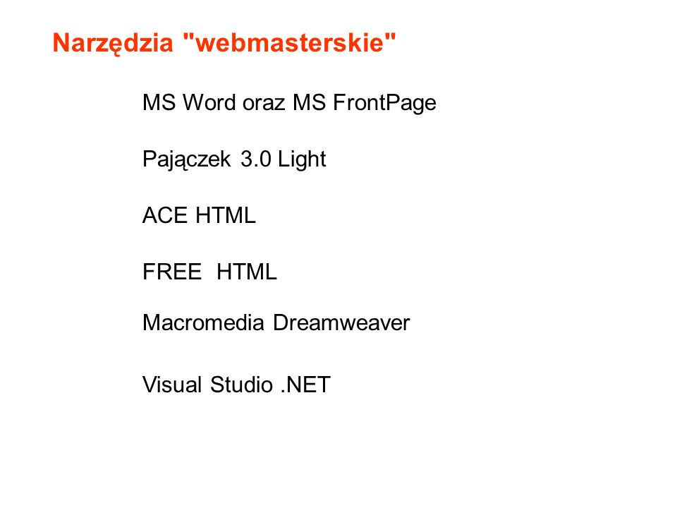 Narzędzia webmasterskie