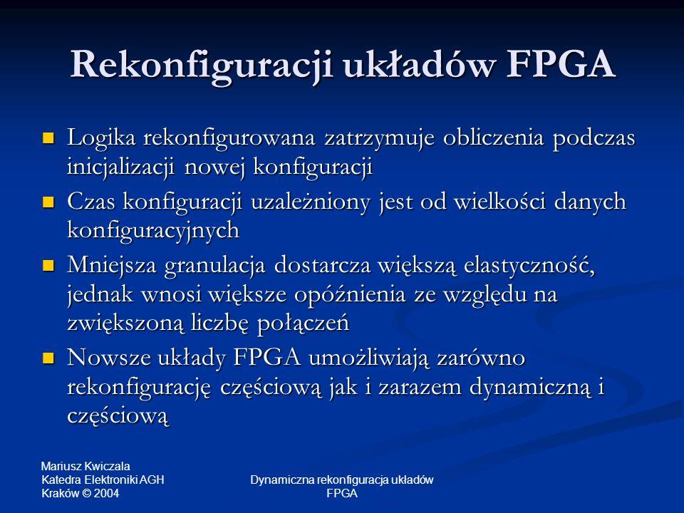 Rekonfiguracji układów FPGA