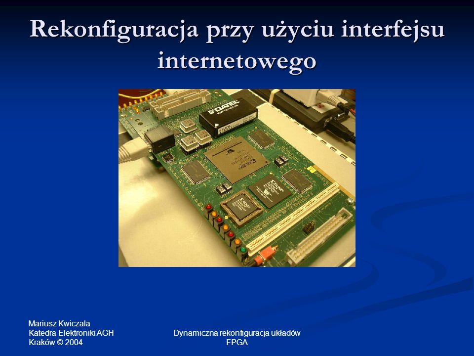 Rekonfiguracja przy użyciu interfejsu internetowego