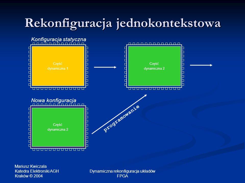 Rekonfiguracja jednokontekstowa