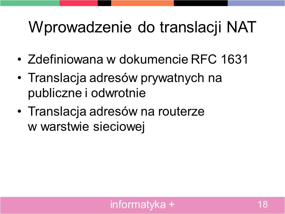 Wprowadzenie do translacji NAT