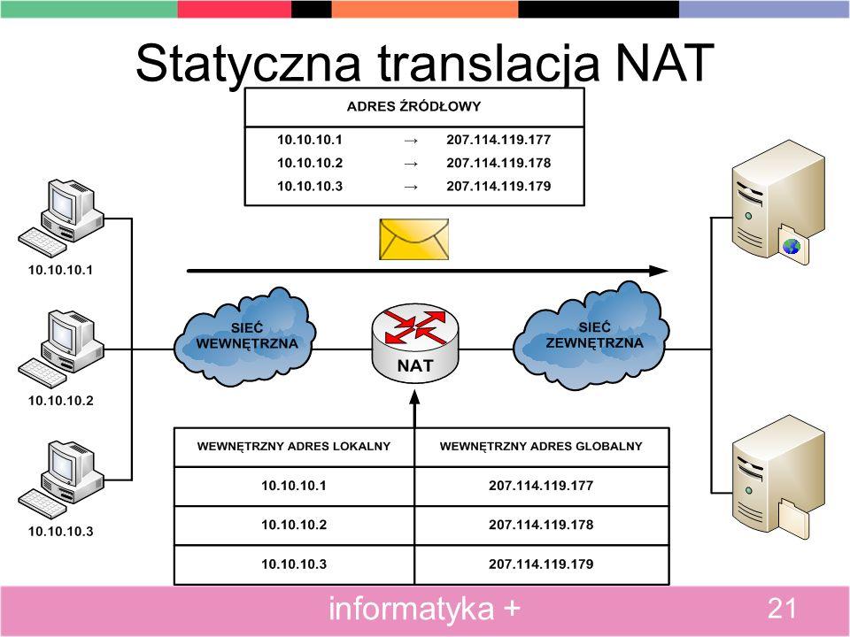 Statyczna translacja NAT
