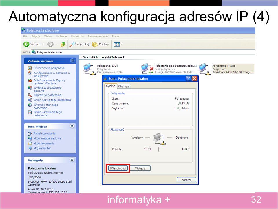 Automatyczna konfiguracja adresów IP (4)