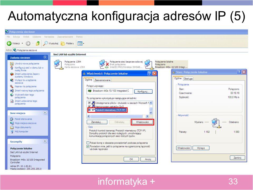 Automatyczna konfiguracja adresów IP (5)