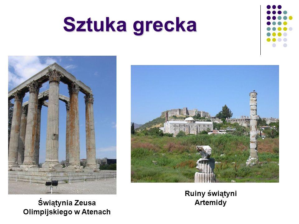 Ruiny świątyni Artemidy Świątynia Zeusa Olimpijskiego w Atenach