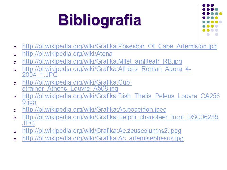 Bibliografiahttp://pl.wikipedia.org/wiki/Grafika:Poseidon_Of_Cape_Artemision.jpg. http://pl.wikipedia.org/wiki/Atena.