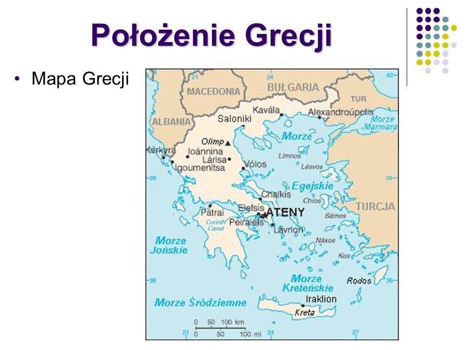 Położenie Grecji Mapa Grecji