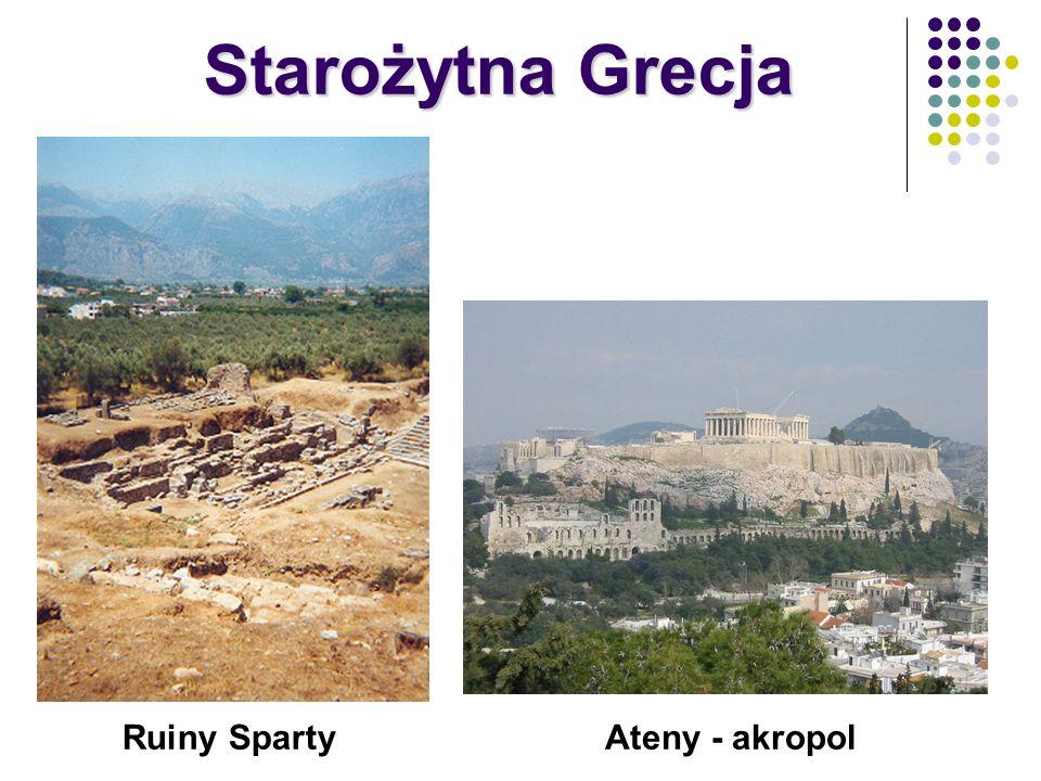 Starożytna Grecja Ruiny Sparty Ateny - akropol