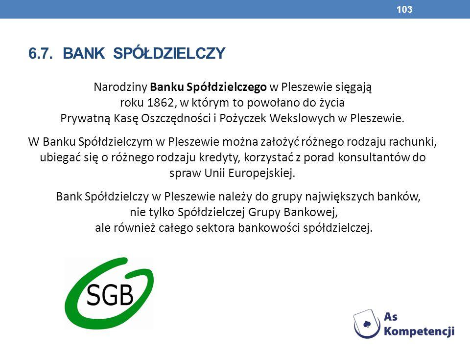 6.7. bank spółdzielczy