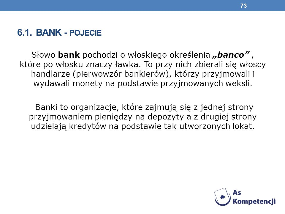 6.1. Bank - pojecie