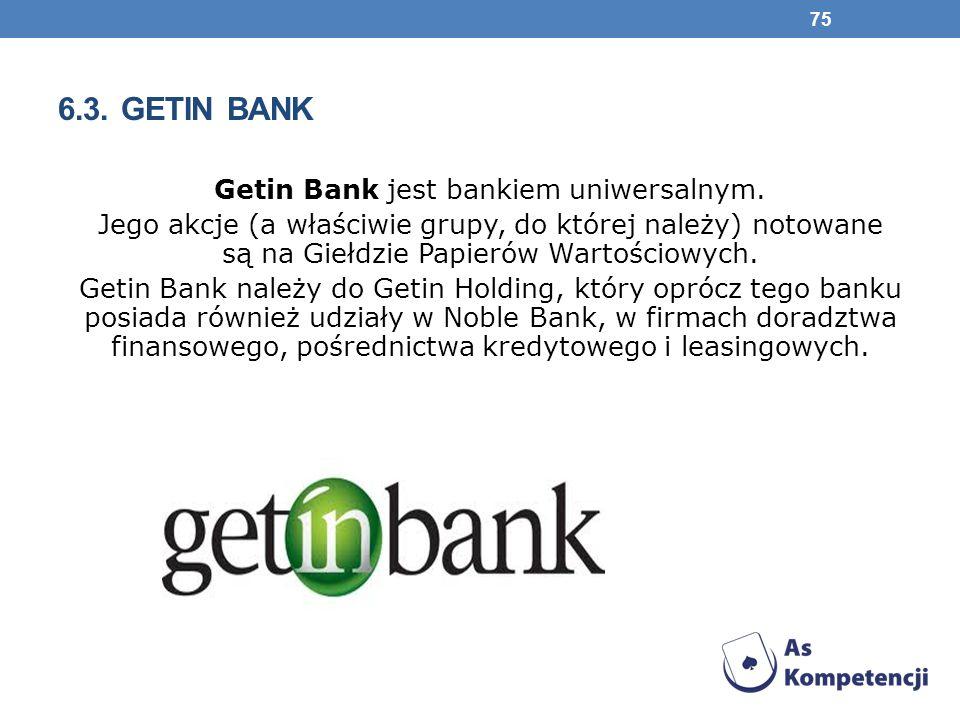 Getin Bank jest bankiem uniwersalnym.