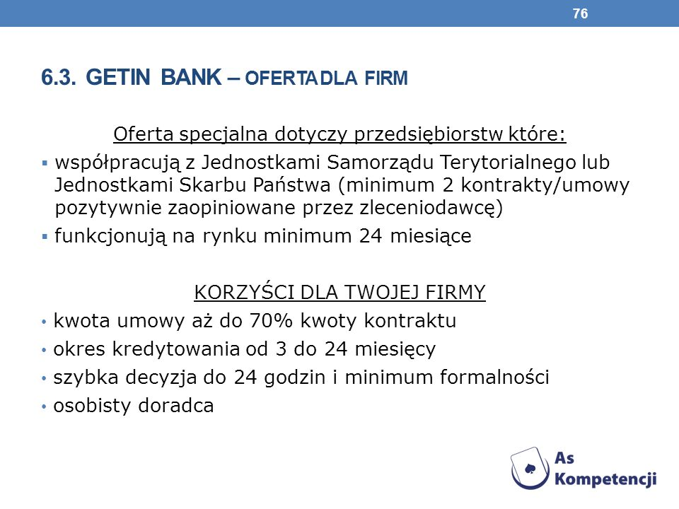 6.3. Getin Bank – oferta dla firm