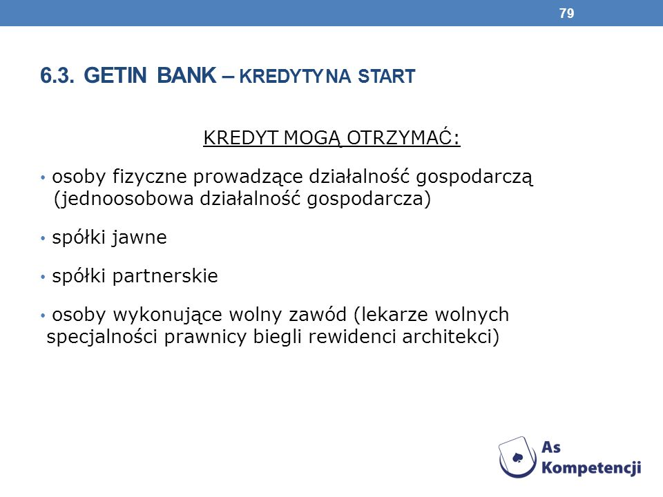 6.3. Getin Bank – kredyty NA START