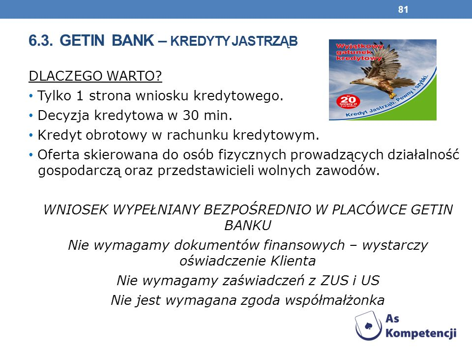 6.3. Getin Bank – kredyty JASTRZĄB