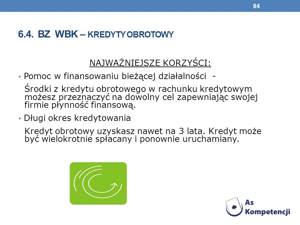 6.4. BZ WBK – kredyty obrotowy
