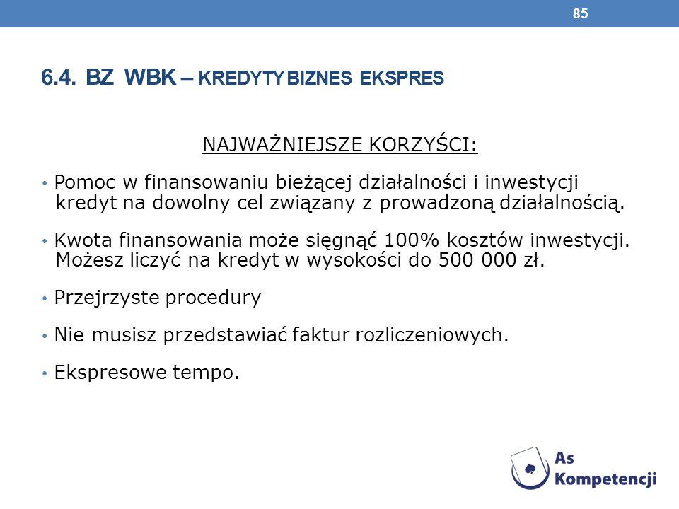 6.4. BZ WBK – kredyty biznes ekspres