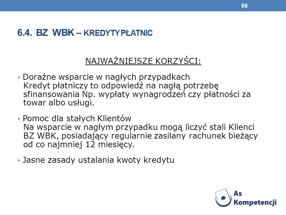 6.4. BZ WBK – kredyty płatnic