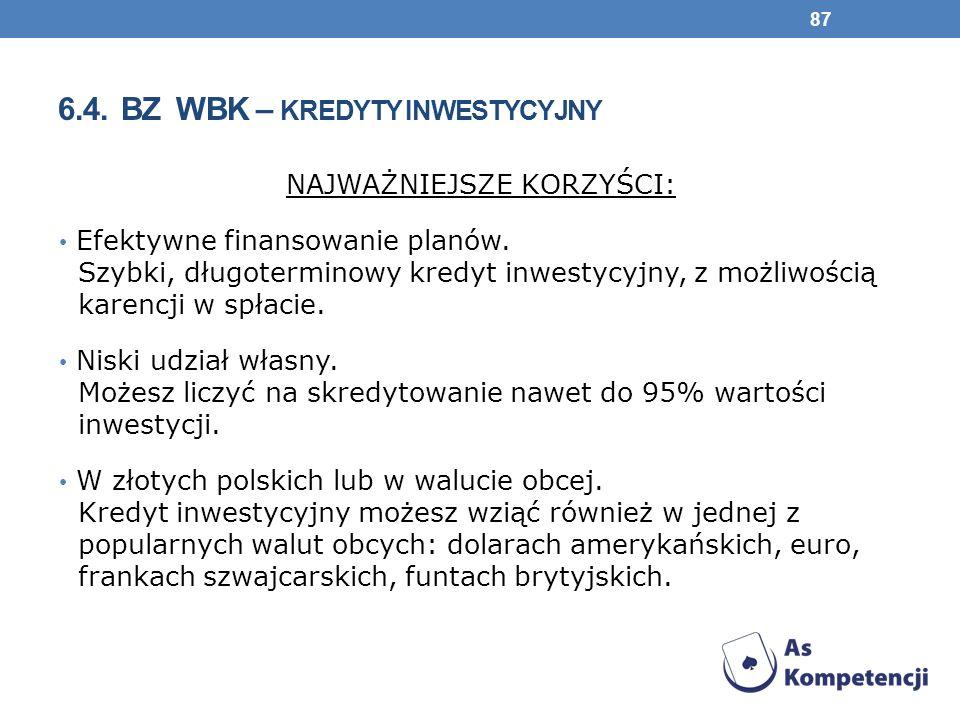 6.4. BZ WBK – kredyty inwestycyjny