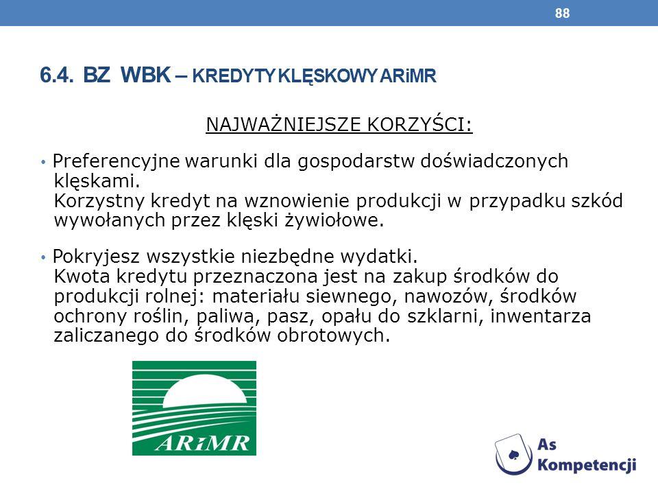 6.4. BZ WBK – kredyty klęskowy ARiMR