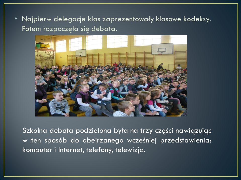 Najpierw delegacje klas zaprezentowały klasowe kodeksy