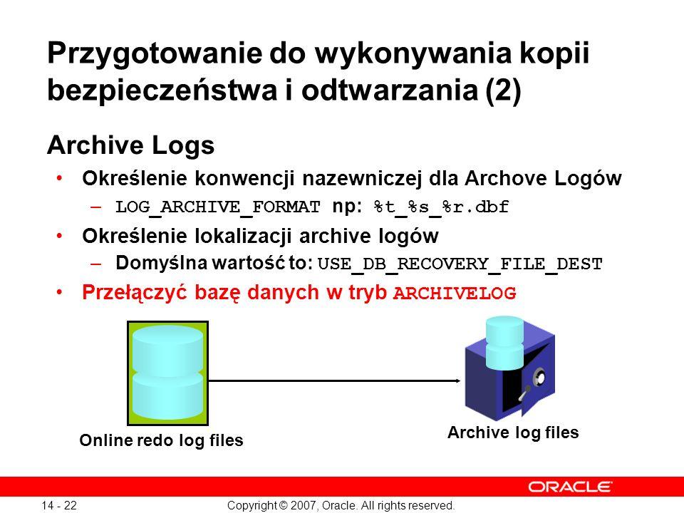 Przygotowanie do wykonywania kopii bezpieczeństwa i odtwarzania (2)