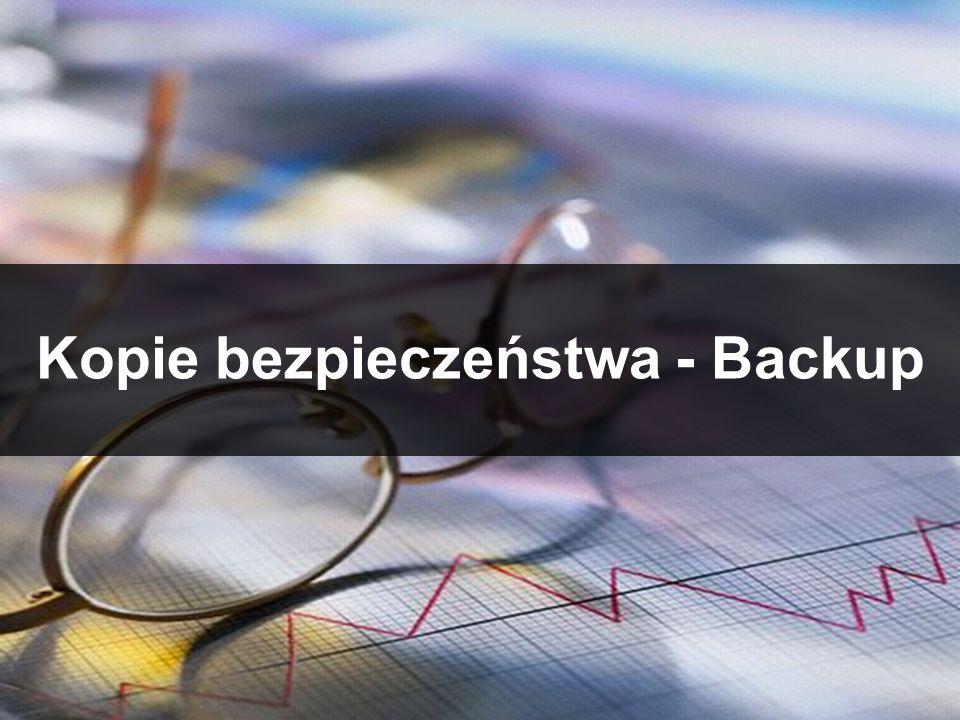 Kopie bezpieczeństwa - Backup