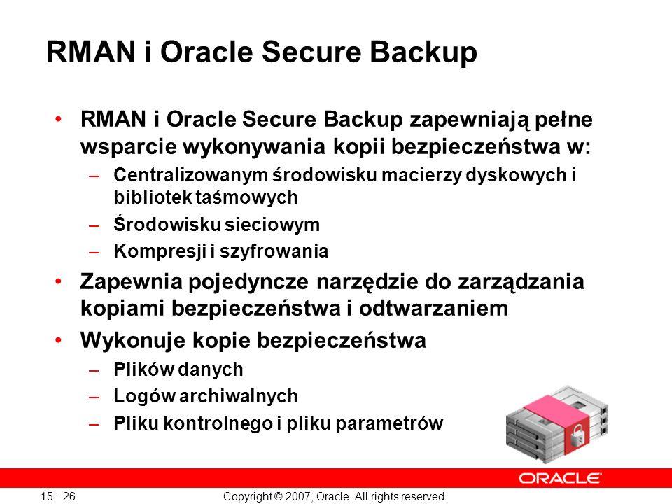 RMAN i Oracle Secure Backup