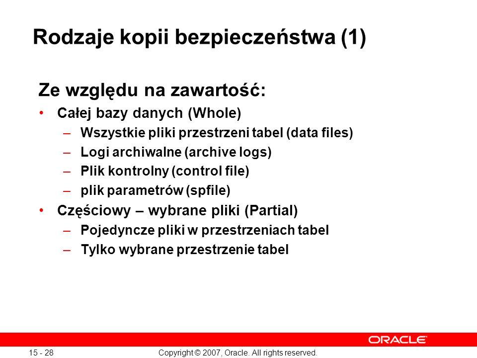 Rodzaje kopii bezpieczeństwa (1)
