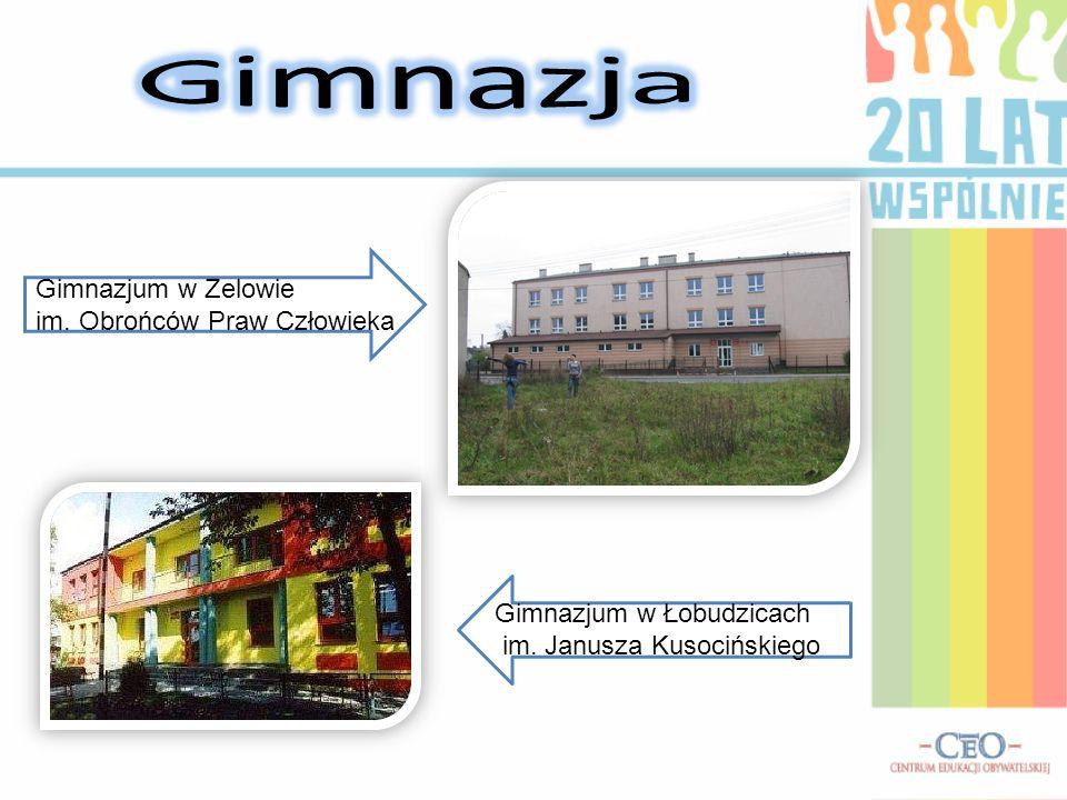 Gimnazja Gimnazjum w Zelowie im. Obrońców Praw Człowieka