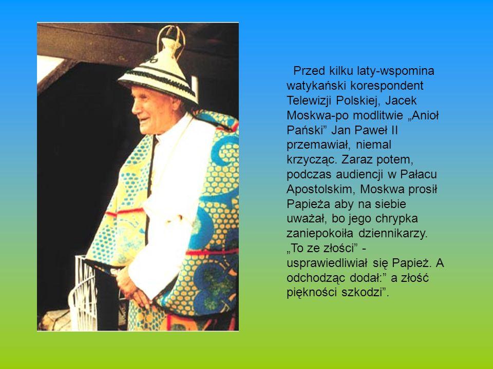 """Przed kilku laty-wspomina watykański korespondent Telewizji Polskiej, Jacek Moskwa-po modlitwie """"Anioł Pański Jan Paweł II przemawiał, niemal krzycząc."""