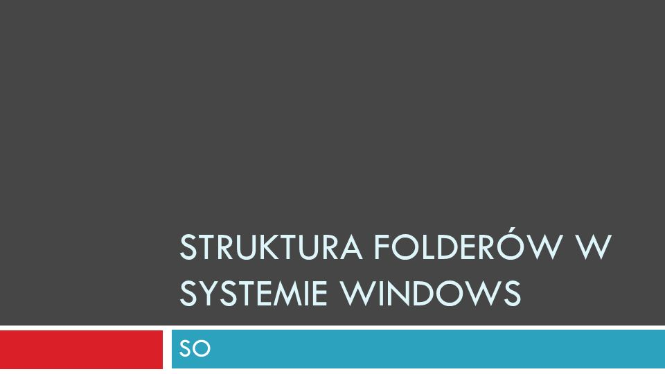 Struktura folderów w systemie Windows