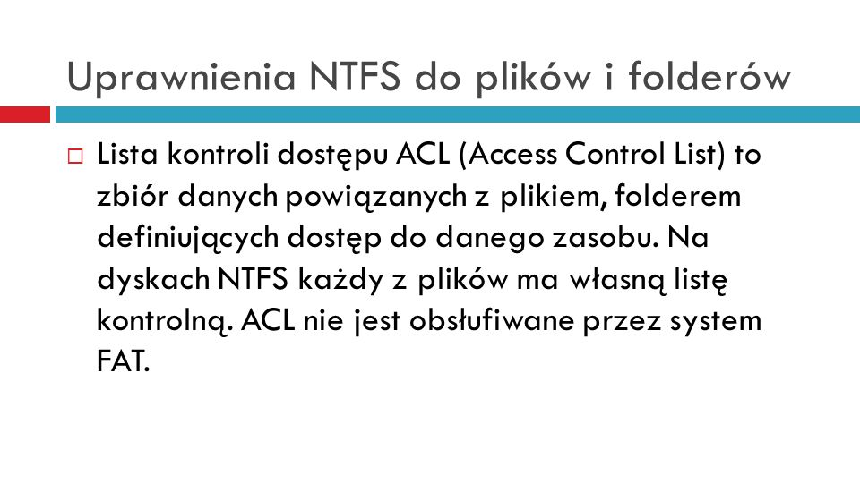 Uprawnienia NTFS do plików i folderów