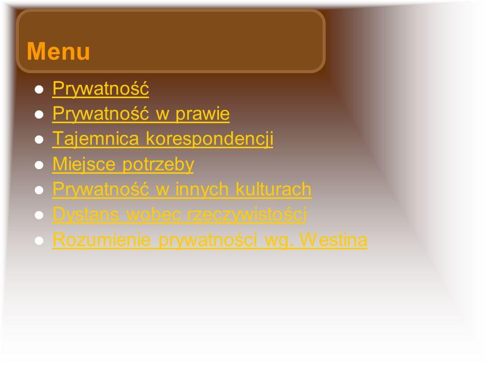 Menu Prywatność Prywatność w prawie Tajemnica korespondencji