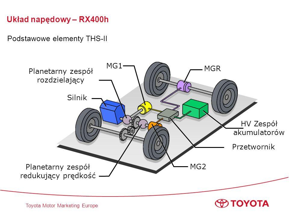 Układ napędowy – RX400h Podstawowe elementy THS-II MG1 MGR