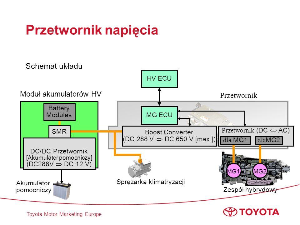Przetwornik napięcia Schemat układu Moduł akumulatorów HV Przetwornik