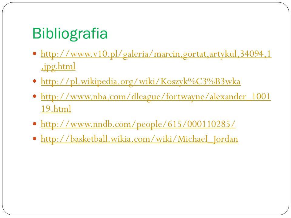 Bibliografia http://www.v10.pl/galeria/marcin,gortat,artykul,34094,1 ,jpg.html. http://pl.wikipedia.org/wiki/Koszyk%C3%B3wka.