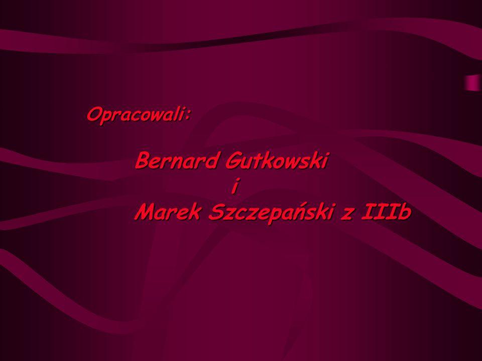 Opracowali: Bernard Gutkowski i Marek Szczepański z IIIb