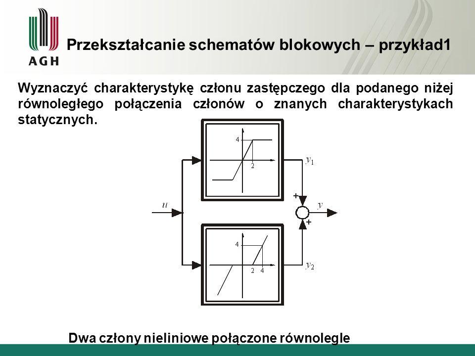 Przekształcanie schematów blokowych – przykład1