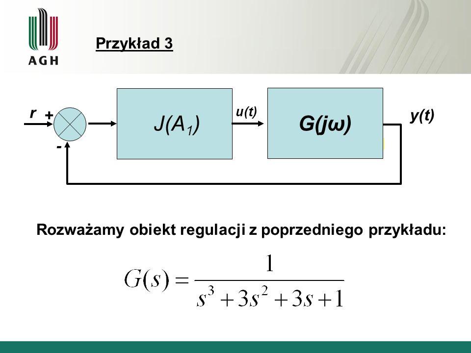G(jω) J(A1) Przykład 3 r + y(t) -