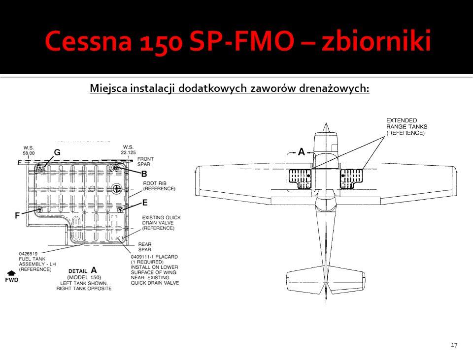 Cessna 150 SP-FMO – zbiorniki