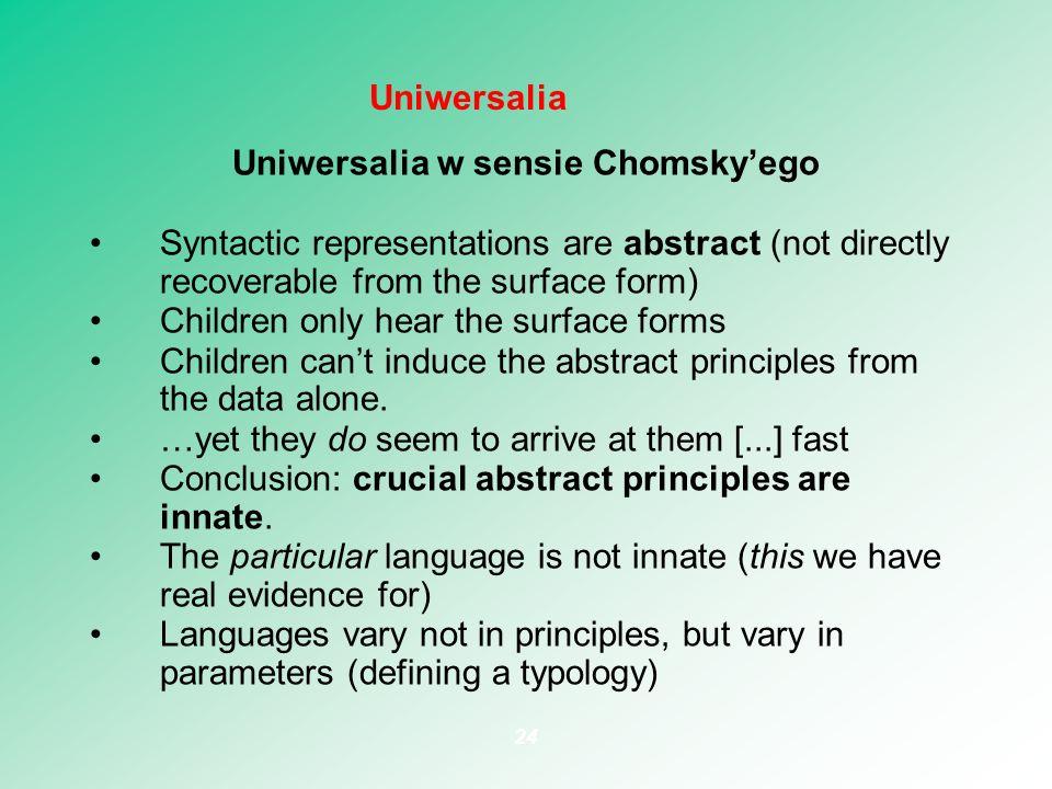 Uniwersalia w sensie Chomsky'ego
