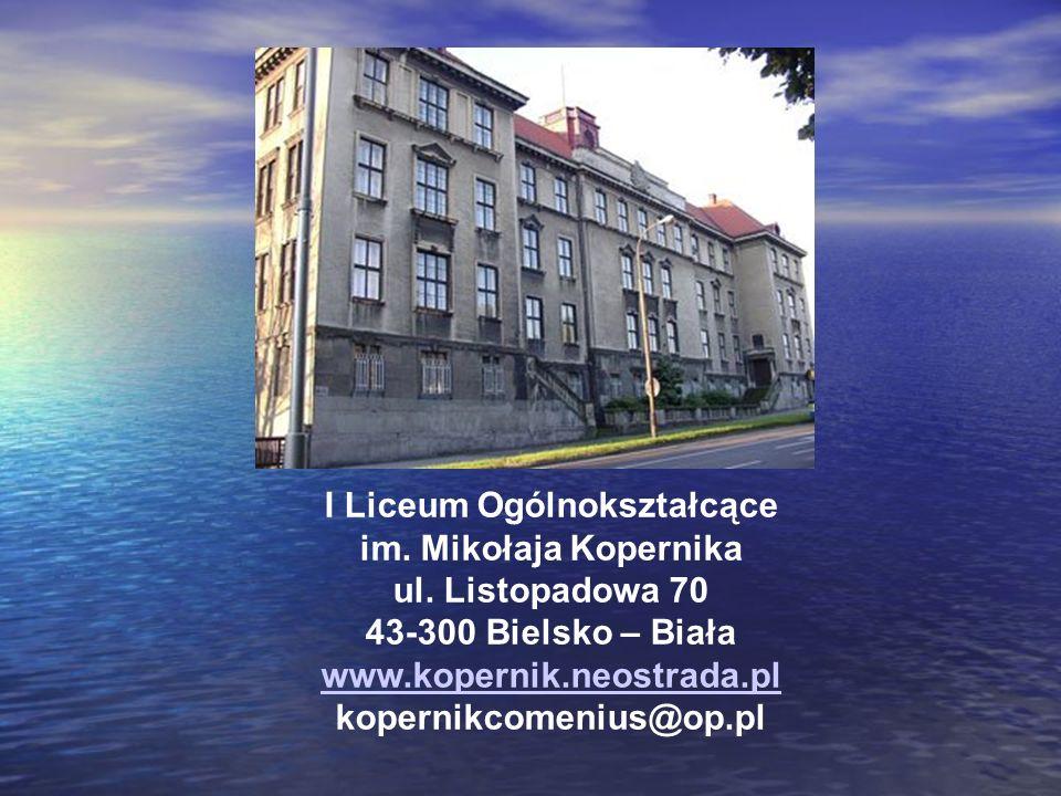 I Liceum Ogólnokształcące im. Mikołaja Kopernika ul